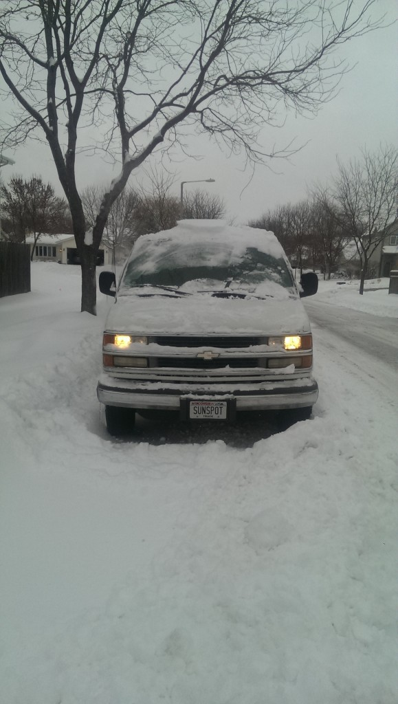 Snowy Sunspot van